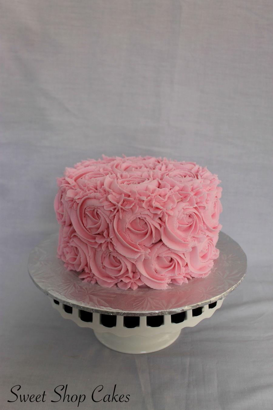 Pink Rosette Smash Cake Cakecentral Com