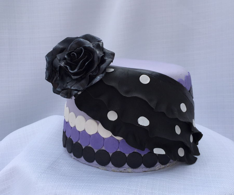 Polka Dot Ruffle on Cake Central