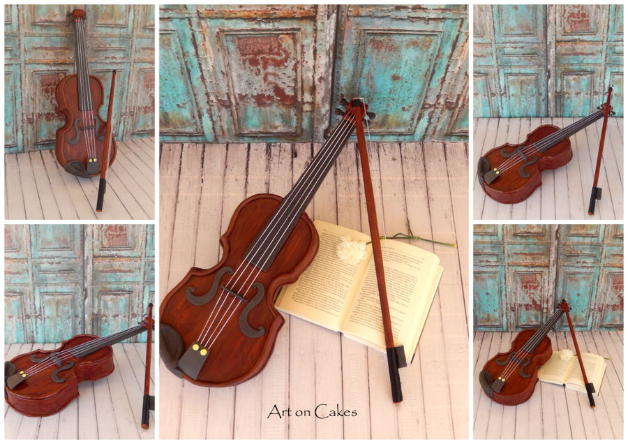 Realistic Violin Cake on Cake Central