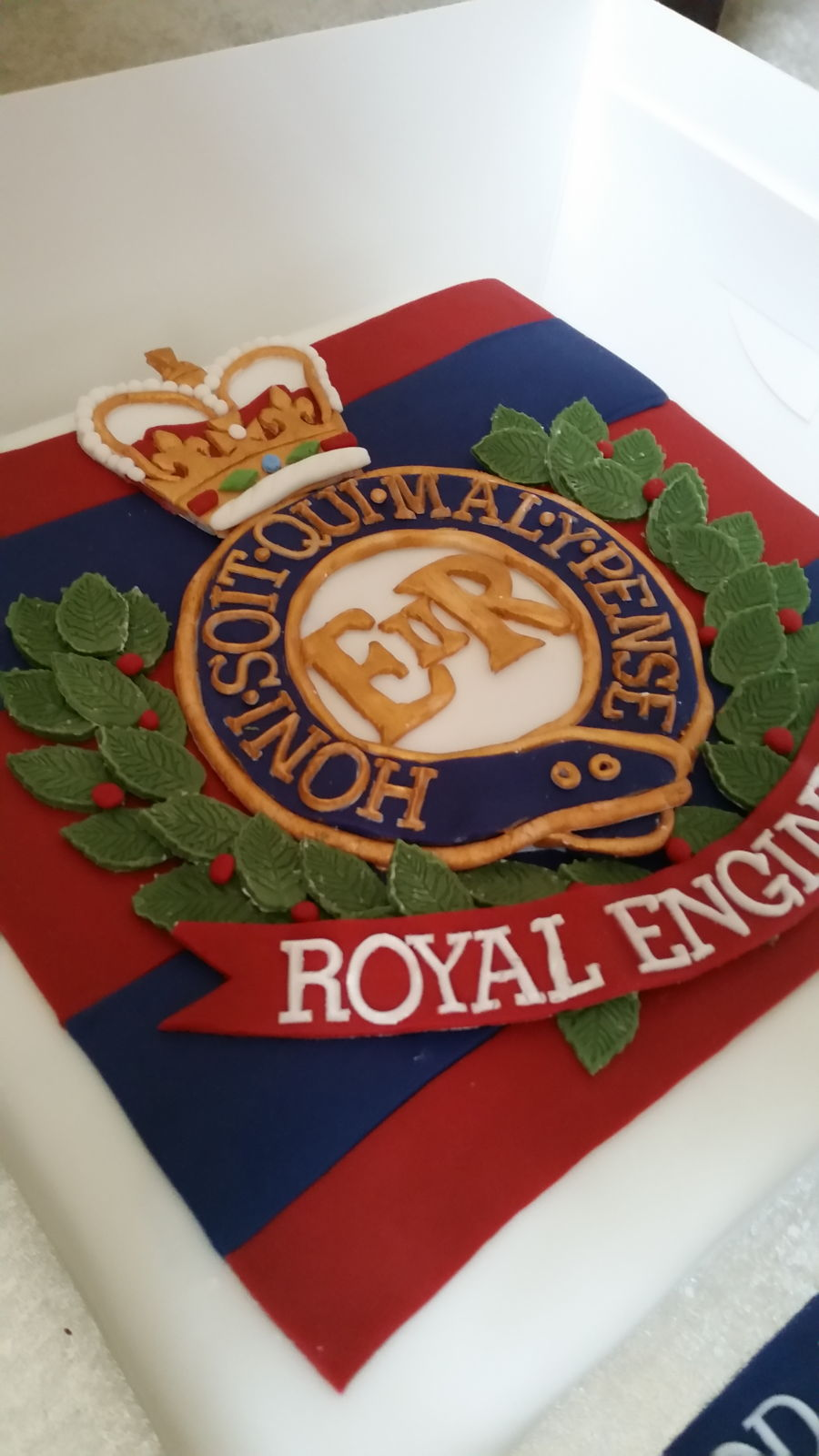 Royal Engineers Themed Fruit Cake on Cake Central