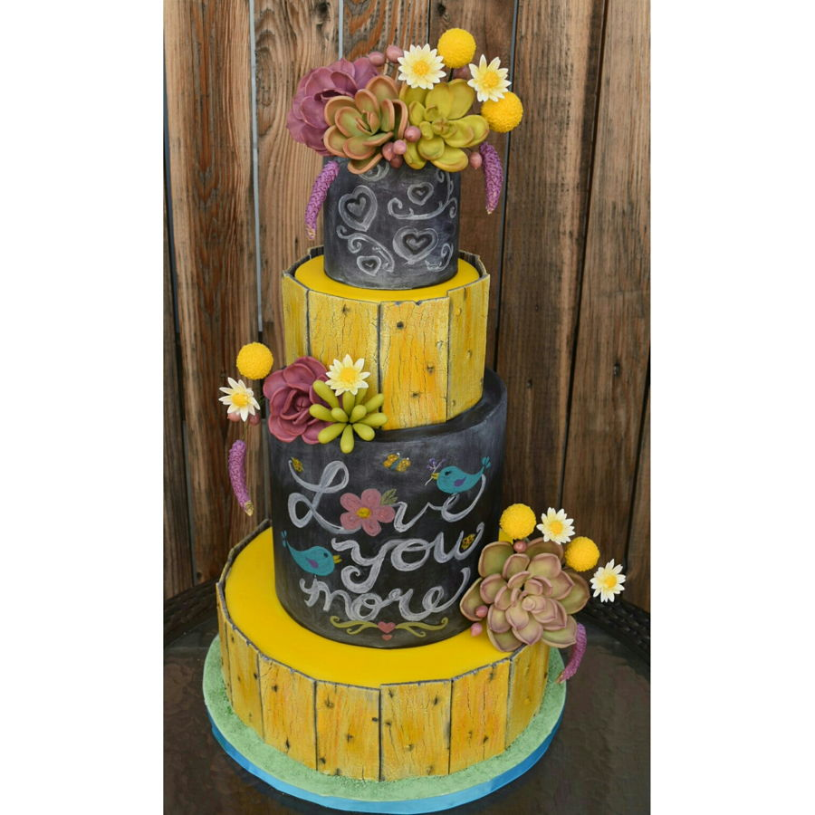 Rustic Chalkboard Cake on Cake Central