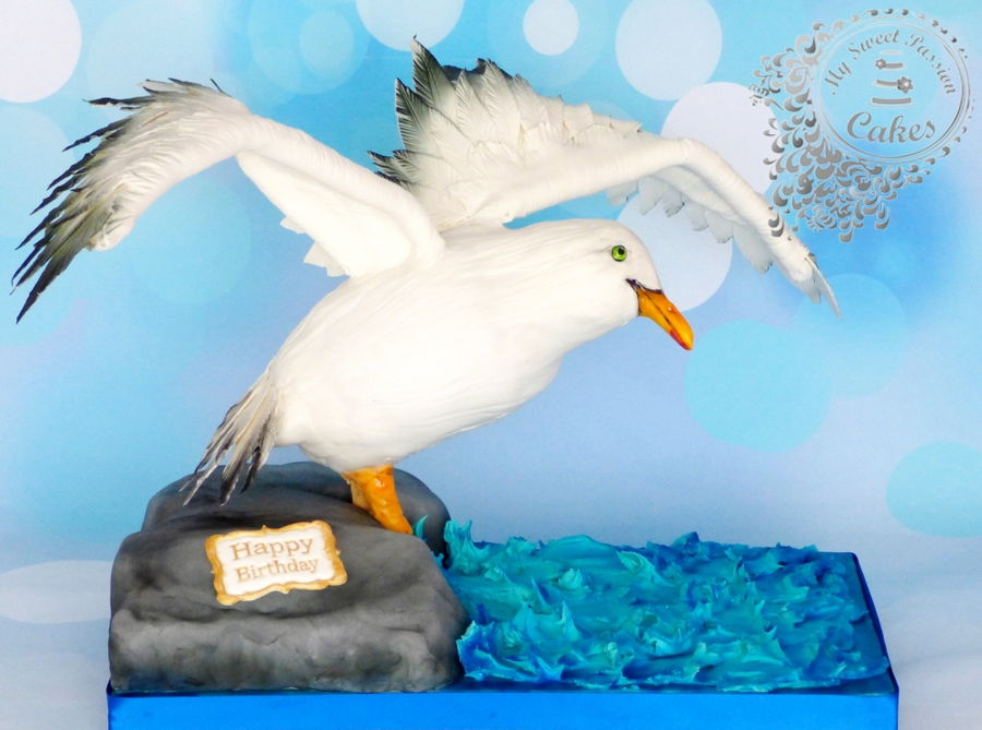 Image Gallery Seagull Cake