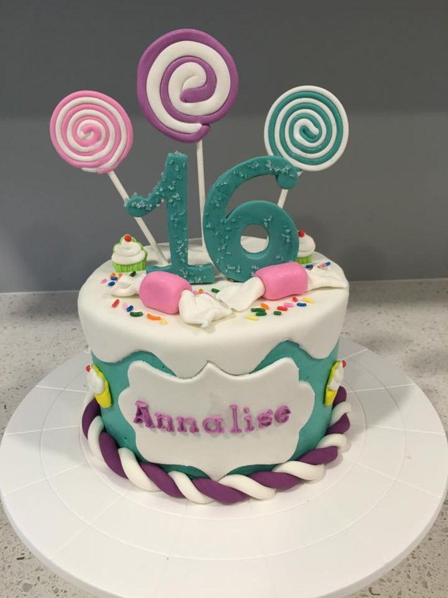Phenomenal Simple Sweet 16 Cakecentral Com Funny Birthday Cards Online Kookostrdamsfinfo