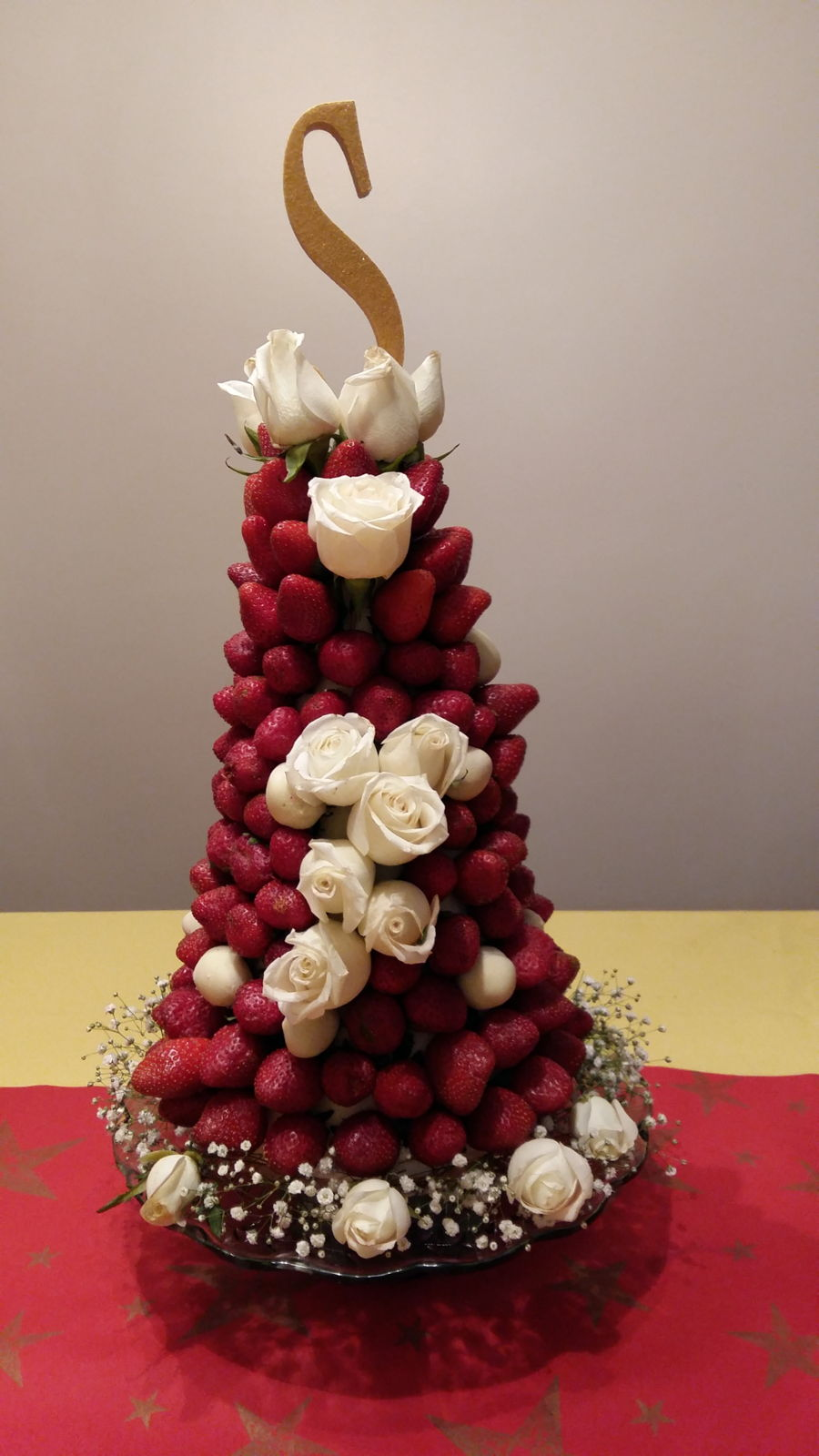 Strawberry Tower Cake