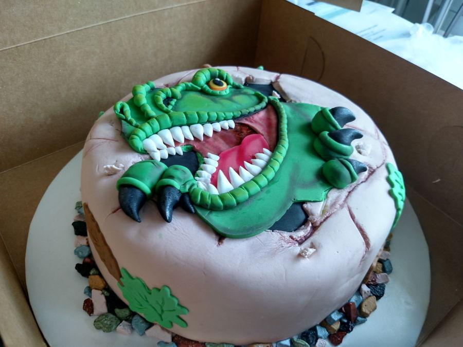 T Rex Dinosaur Cakecentral Com
