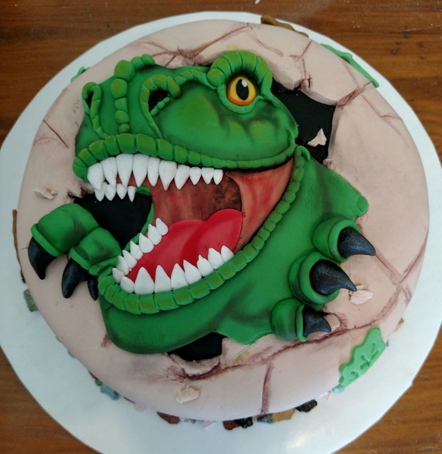 T rex dinosaur for How to make a dinosaur cake template