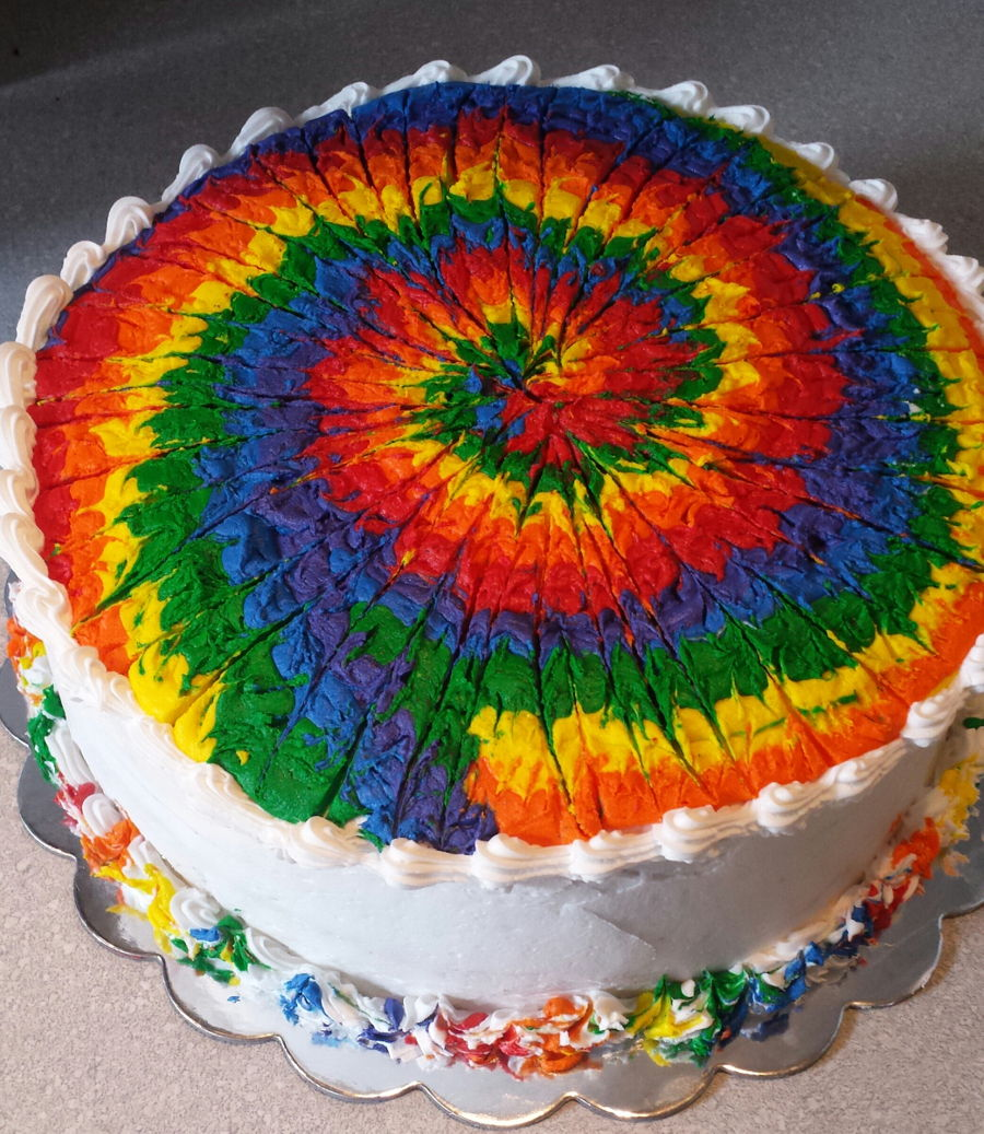 Tye Dye Birthday Cake