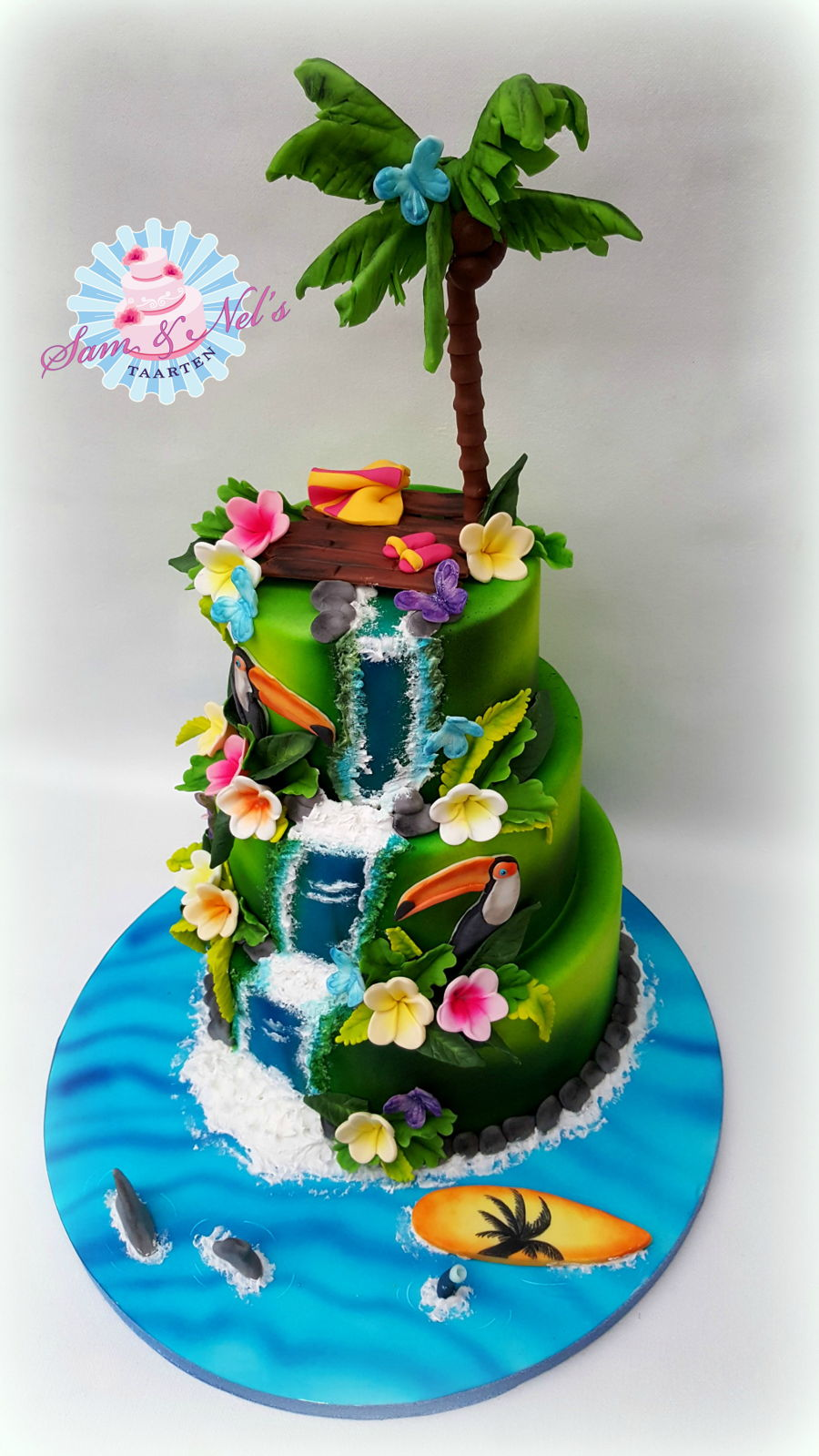 Tropical Themed Birthday Cakes