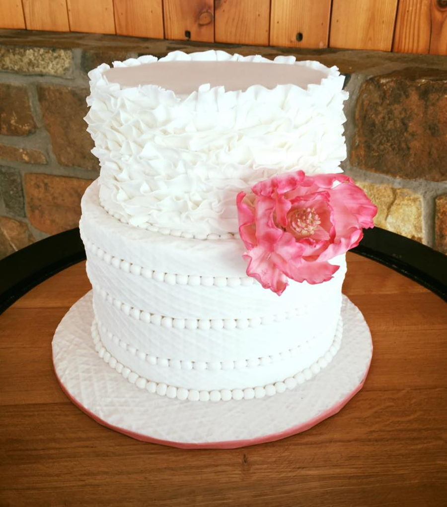 Petal Wedding Cake Two Tier