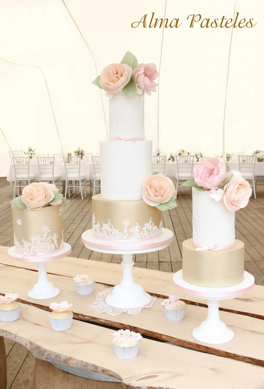 Vintage Wedding Cake Trio - CakeCentral.com