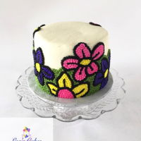All Buttercream Floral Cake All buttercream floral cake