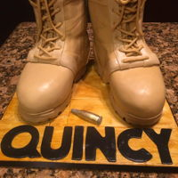 Army Boots So honored to have made this cake for hubbys friend who is in the Army. I used Michelle fosters fondant