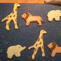 Baby Shower Animal Theme basic sugar cookie with royal icing