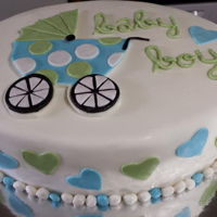 Baby Shower Cake Baby shower cake with carriage on top