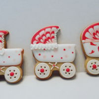 Baby Shower Prams Shortbread Cookies for Shower.
