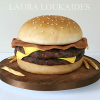 Bacon Double Cheeseburger Cake Bacon Double Cheeseburger Cake :)