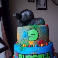 Paintball Birthday Cake Paintball birthday cake