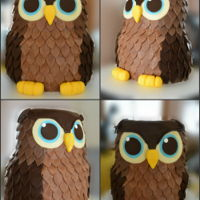 Birthday Cake owl cake
