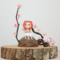 "Blossom Bloom  My Fairy ""Blossom Bloom"" I made for Away with the Fairies Centrepiece. Blossom Bloom lives in the magical woodland. She..."