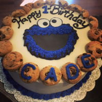 C Is For Cookie! I made this cake for a sweet little 1 year old! I thought that it came out very cute! Thanks so much!