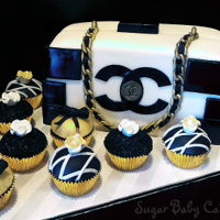 Chanel Purse Cake/cupcakes Chanel Purse Cake/Cupcakes for the Fashionista Diva!