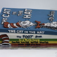 Dr. Seuss Books Cake By 2Bi Cakes Stack of Dr. Seuss books - cake! https://www.facebook.com/2bicakes/photos/a.530289880385501.1073741826.530274720387017/1005532056194612/?...