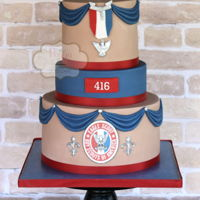 Eagle Scout Cake Boy Scout Cake for an Eagle Scout Promotion. Medal and pin are fondant.