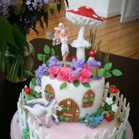 Fairy Home A cake for a little girl, who loves pink, purple, and fairies