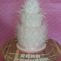 Feathercake Made with ricepaper. Fun to do.