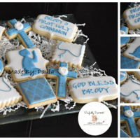 "First Communion First Communion cookies!! I don't know who was the original designer to the ""rosary"" beads cookie because I would love to..."