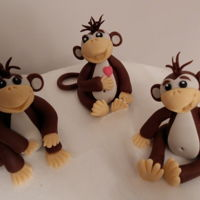 Fondant Monkeys Modelling for cake.