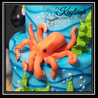 Fondant Octopus Hand crafted fondant octopus cake topper