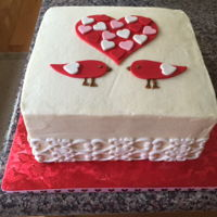 For Engaged Couples Group I based this on a cake I saw on Williams Sonoma (I think!) for Valentine's Day. The Marriage in the Lord class at my church needed a...