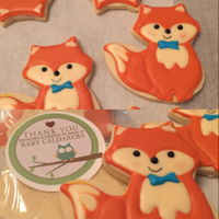 Fox Baby Shower Cookies   Fox Baby Shower Cookies