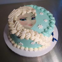 Frozen, Elsa Elsa cake made for my friends granddaughter. Inspiration came from a photo she showed me, so thank you to original designer.