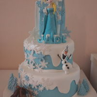 Frozen Elsa Princess Cake FROZEN ELSA PRINCESS CAKE