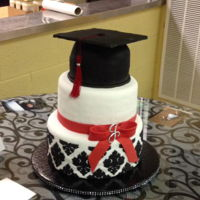 Graduation Cake   buttercream and fondant covered