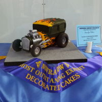 Hot Rod Cake I made this hot rod cake for a local show