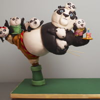 Kung Fu Panda 3D Cake A gravity defying Po cake for my zon Jamie. We loved the movie so much!