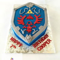 Legend Of Zelda Birthday Cake Buttercream iced cake with fondant details