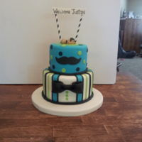 Little Man Baby Shower Cake Baby shower cake for Justin :)