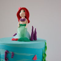 Little Mermaid Cake   for my daugther $ birthday