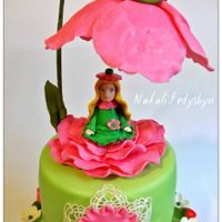 Little Thumbelina mastic Fondant,sponge cakes,butter cream,fruit