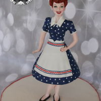 Lucille Ball Cake She stands about 17 1/2 inches tall, her skirt is cake! Tutorial out early next year!