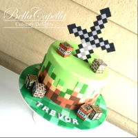 Minecraft Cake Minecraft Cake by Bella Capella Culinary Delights in Queenslands Central Highlands.