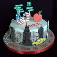 New York New York... New York cake for a surprise birthday trip!