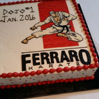 Opening The New Dojo Cake for my wonderful nephew. Grand Opening Day.