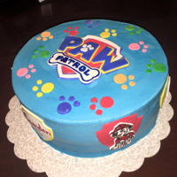 Paw Patrol My kids were so excited about this cake! I had to guard the little hand painted puppies before the party! Still, I think it came out very...