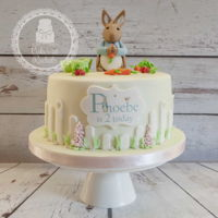 Peter Rabbit Cake Cute little Peter Rabbit themed cake