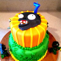 Plants Vs Zombies Plants vs Zombies cake, my son's 7th